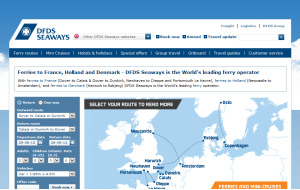 Preview 3 of the DFDS Seaways website