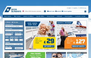 Preview 2 of the DFDS Seaways website