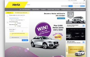 Preview 2 of the Hertz website