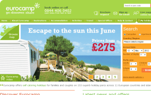 Preview 2 of the Eurocamp website