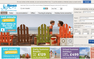 Preview 3 of the Haven Holidays UK website