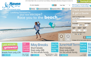 Preview 2 of the Haven Holidays UK website