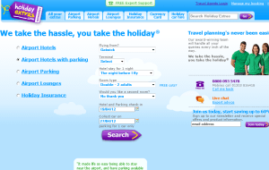 Preview 2 of the Holiday Extras website