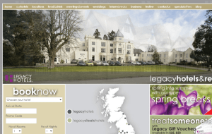 Preview 2 of the Legacy Hotels website