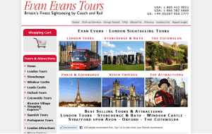 Preview 3 of the Evan Evans Tours website