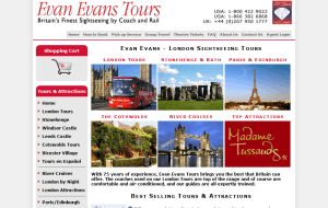 Preview 2 of the Evan Evans Tours website