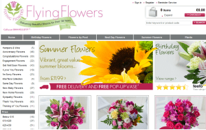 Preview 2 of the Flying Flowers website