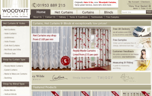 Preview 2 of the Woodyatt Curtains website