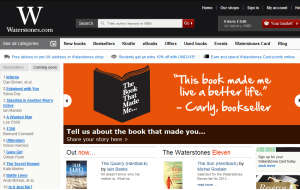 Preview 3 of the Waterstones website