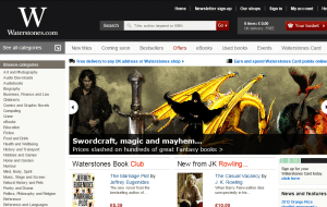 Preview 2 of the Waterstones website
