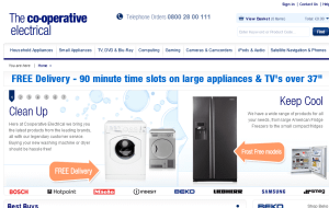 Preview 2 of the Co-op Electrical Shop website