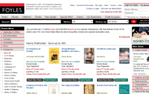 Preview 2 of the Foyles website