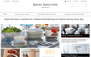 Preview 2 of the Royal Doulton website