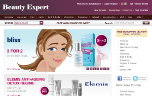 Preview 2 of the Beauty Expert website