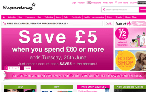 Preview 3 of the Superdrug website