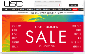 Preview 2 of the USC Clothing website