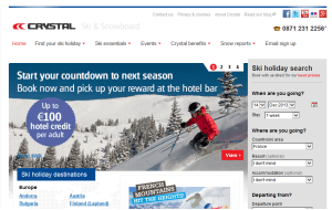 Preview 3 of the Crystal Ski Holidays website