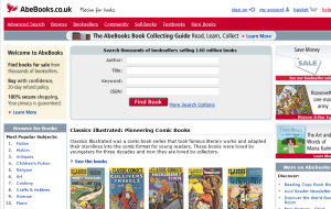 Preview 2 of the AbeBooks website