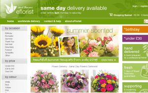 Preview 3 of the eFlorist website