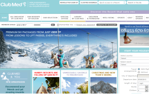 Preview 3 of the Club Med website