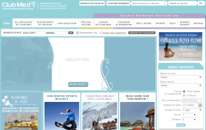 Preview 2 of the Club Med website