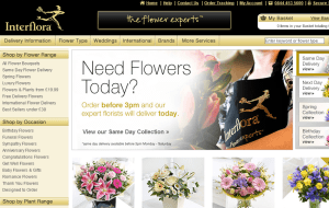 Preview 2 of the Interflora website