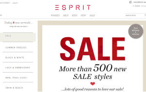 Preview 3 of the Esprit website