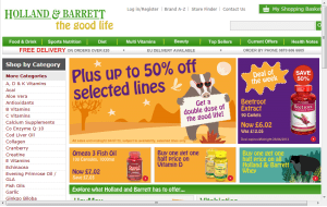 Preview 3 of the Holland and Barrett website