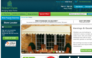 Preview 2 of the Robert Dyas website