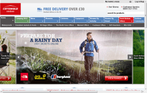 Preview 2 of the Cotswold Outdoor website