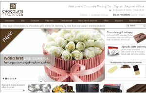 Preview 3 of the Chocolate Trading Co website