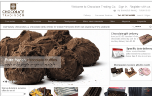Preview 2 of the Chocolate Trading Co website