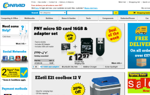 Preview 2 of the Conrad Electronics website