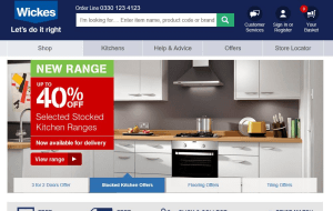 Preview 2 of the Wickes website
