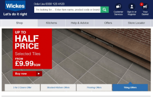 Preview 3 of the Wickes website