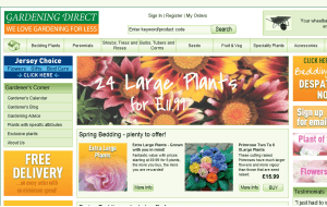Preview 3 of the Gardening Direct website