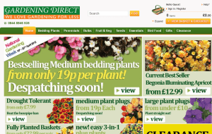 Preview 2 of the Gardening Direct website