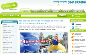 Preview 2 of the Attractiontix website