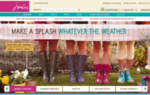 Preview 2 of the Joules Clothing website