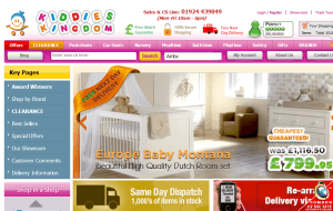 Preview 2 of the Kiddies Kingdom website