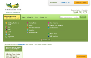 Preview 2 of the Wiltshire Farm Foods website