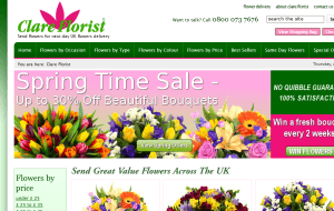 Preview 2 of the Clare Florist website