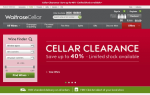 Preview 3 of the Waitrose Cellar website