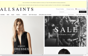 Preview 3 of the All Saints website
