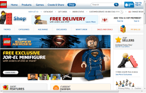 Preview 3 of the Lego website
