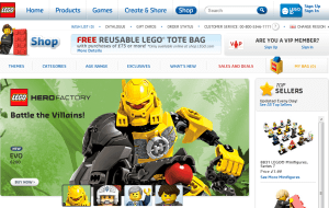 Preview 2 of the Lego website