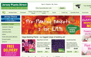 Preview 3 of the Jersey Plants Direct website