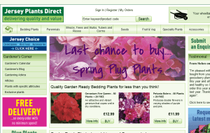 Preview 2 of the Jersey Plants Direct website