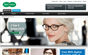 Preview 3 of the Specsavers website