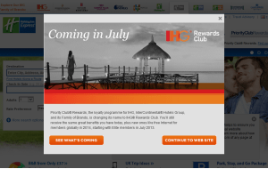 Preview 3 of the Holiday Inn Express website